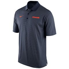 Men's Nike Syracuse Orange Striped Stadium Dri-FIT Performance Polo