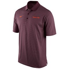 Men's Nike Virginia Tech Hokies Striped Stadium Dri-FIT Performance Polo