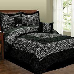 Leopard 6 pc Microsuede Comforter Set
