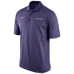 Men's Nike Kansas State Wildcats Striped Stadium Dri-FIT Performance Polo