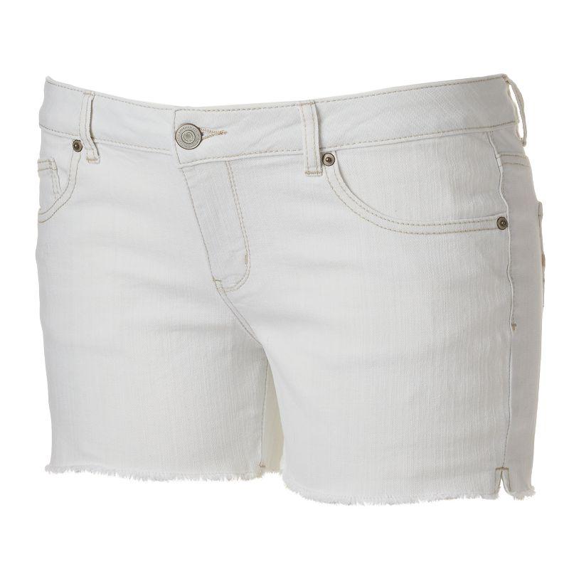SO Cutoff Midi Jean Shorts - Juniors' Plus