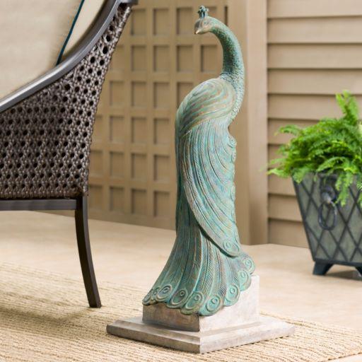 Bombay® Outdoors Royal Peacock Garden Statue - Indoor / Outdoor