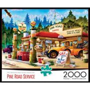 Buffalo Games 2000 pc Pine Road Service Station Jigsaw Puzzle