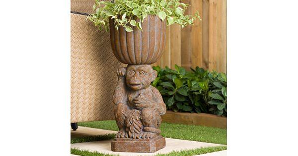 Bombay 174 Outdoors Mumbai Monkey Urn Planter Indoor Outdoor