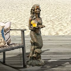 Bombay Outdoors Francesca Mermaid End Table Indoor \/ Outdoor by