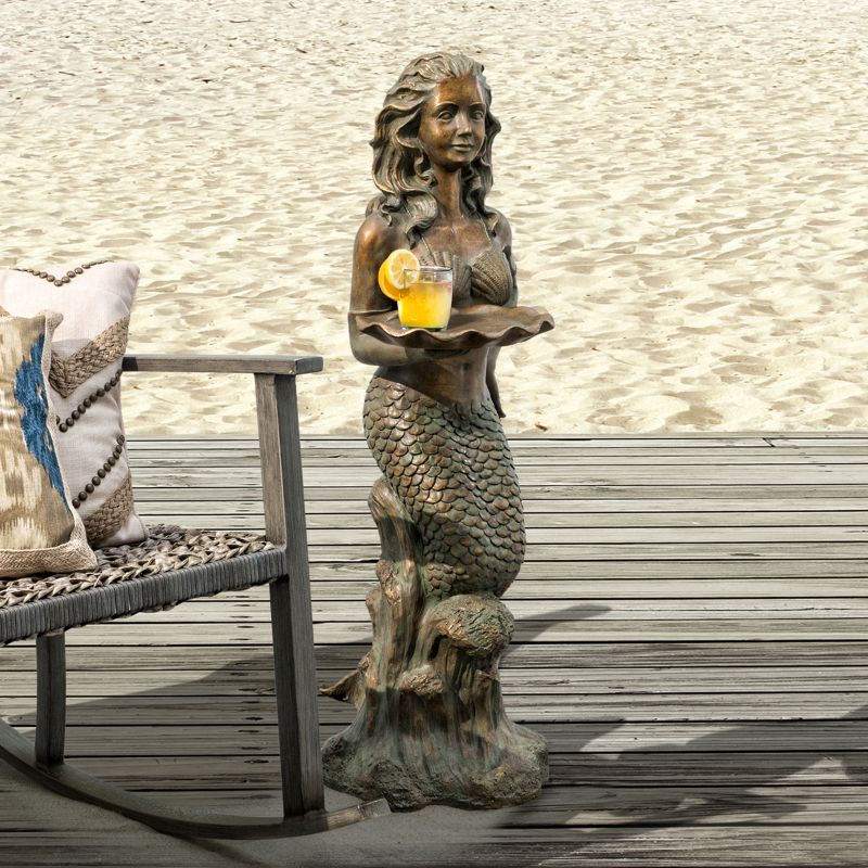 Bombay Outdoors Francesca Mermaid End Table - Indoor \/ Outdoor, Brown