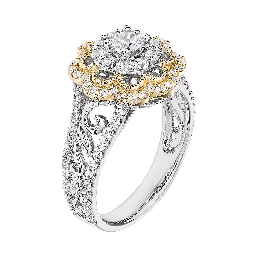 Simply Vera Flower Engagement Ring