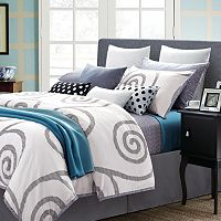 Serenity 7 pc White Duvet Cover Set