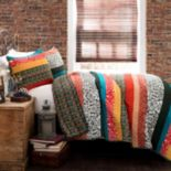 Lush Decor Boho Stripe 3 pc Reversible Quilt Set