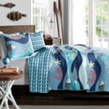 Lush Decor Sealife Reversible Quilt Set