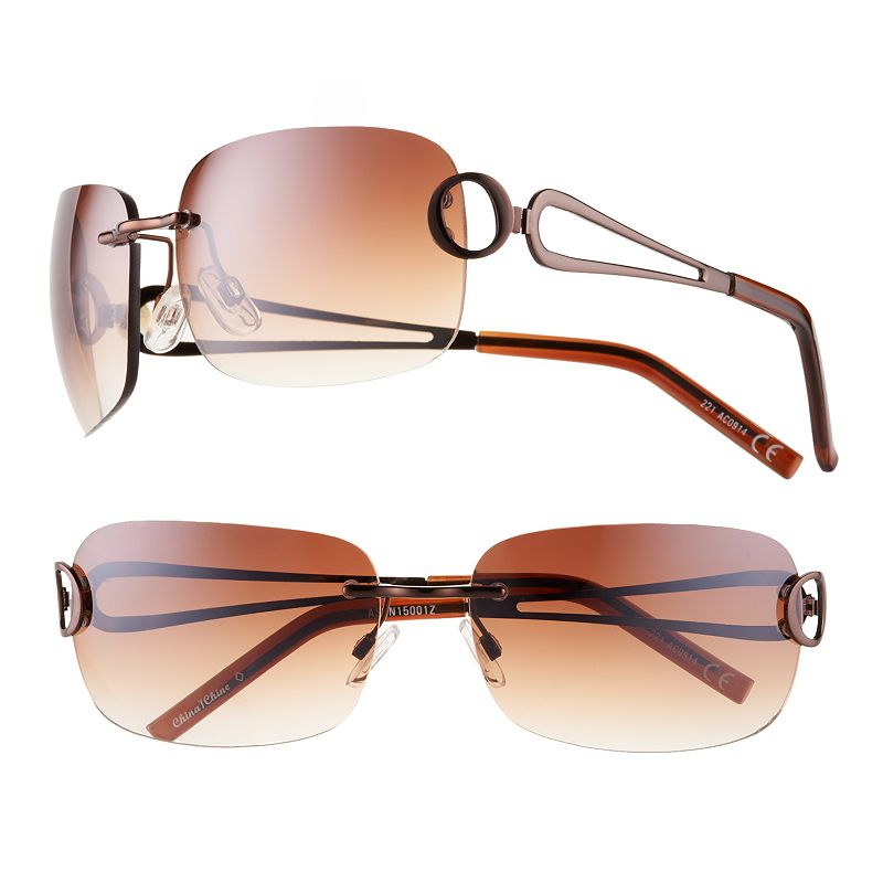 Rimless Glasses Round Face : Womens Rimless Sunglasses Kohls