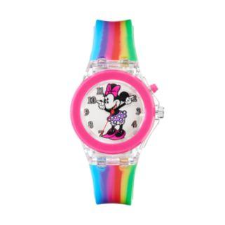 Disney's Minnie Mouse Girls' Rainbow Light-Up Watch