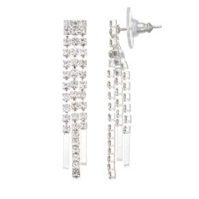 3-Row Drop Earrings