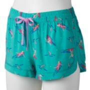SO® Pajamas: Woven Pajama Shorts - Juniors