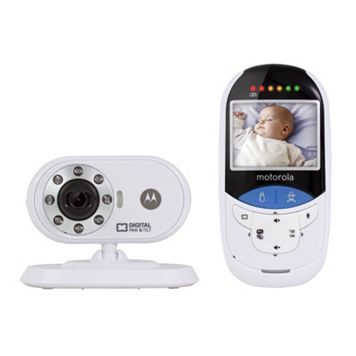 Motorola MBP27T Digital Video Baby Monitor & Built-In Touchless Thermometer