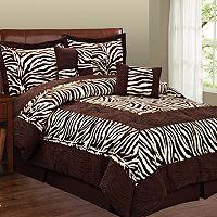 Zebra 6 pc Microsuede Comforter Set