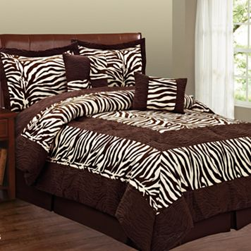 Zebra 6-pc. Microsuede Comforter Set