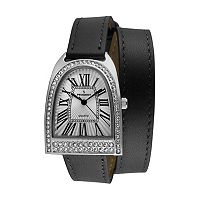 Peugeot Women's Leather Wrap Watch