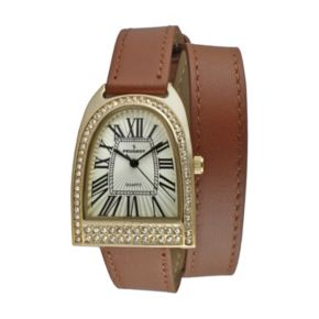 Peugeot Women's Leather Wrap Watch