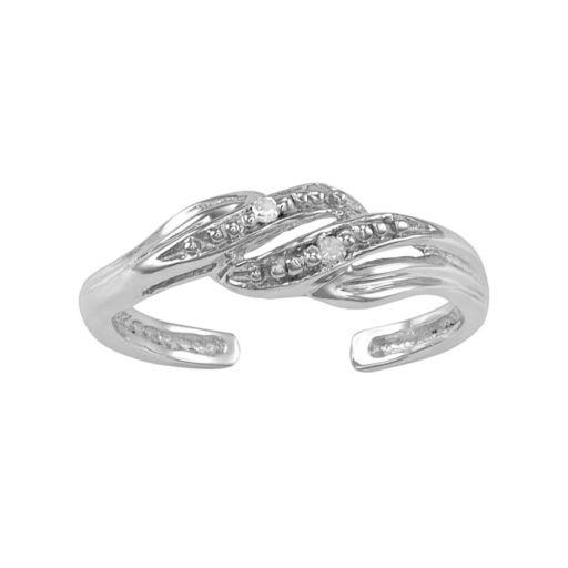 Diamond Accent 10k Gold Swirl Toe Ring