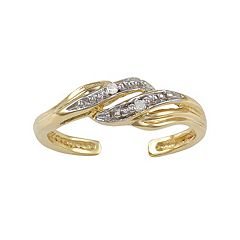 Diamond Accent 10k Gold Swirl Toe Ring