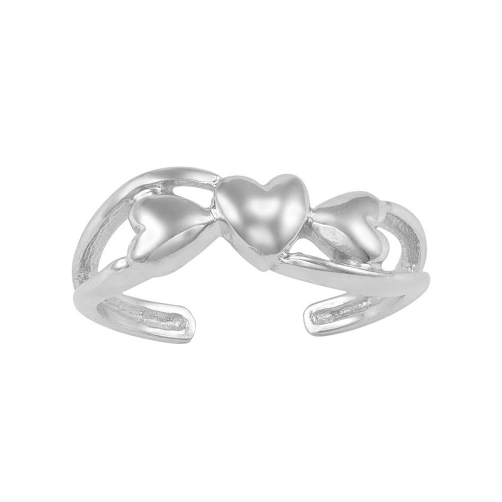 10k Gold Heart Toe Ring