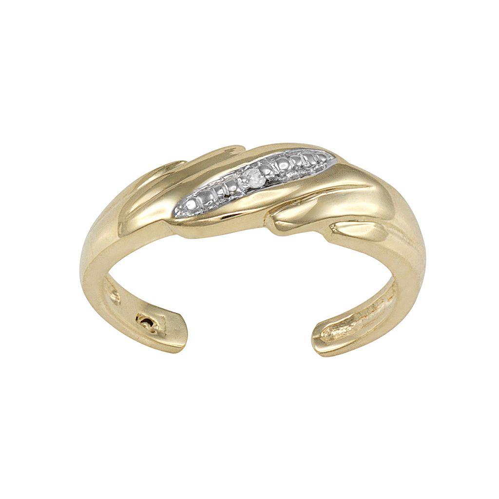 Diamond Accent 10k Gold Toe Ring