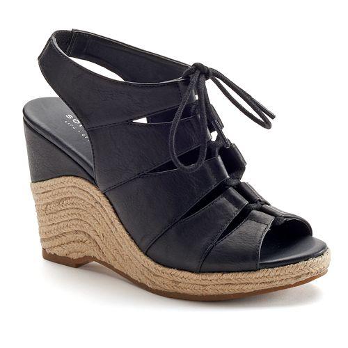 Espadrille For Women's Wedge Goods Sonoma Peep Sandals Life™ Toe yNO80mnwv