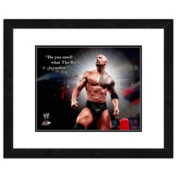 The Rock Pro Quote Framed 11