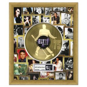 "Elvis Presley 75th Birthday Celebration 20"" x 24"" Framed Gold Record"