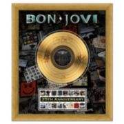 "Bon Jovi 25th Anniversary 20"" x 24"" Framed Gold Record"