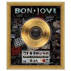 Bon Jovi 25th Anniversary 20' x 24' Framed Gold Record