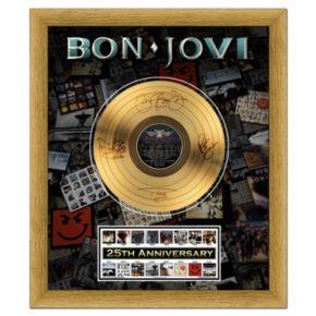 "Bon Jovi 25th Anniversary 20"" x 24"" Framed Gold Record"