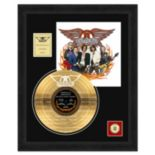 "Aerosmith America's Greatest 18"" x 24"" Framed Etched Gold Record"