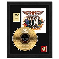 Aerosmith America's Greatest 18' x 24' Framed Etched Gold Record