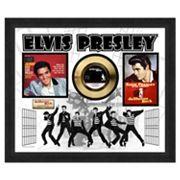 Elvis Presley Jailhouse Rock 22.5' x 26.5' Framed Gold 45