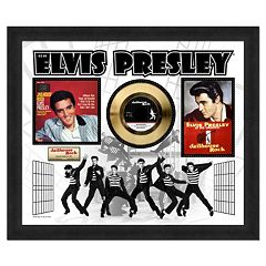 Elvis Presley Jailhouse Rock 22.5' x 26.5' Framed Gold 45