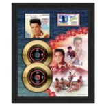 "Elvis Presley 50th Anniversary for Blue Hawaii 18.5"" x 22.5"" Framed Gold 45"