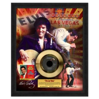 "Elvis Presley Viva Las Vegas 16"" x 20"" Framed Gold 45"