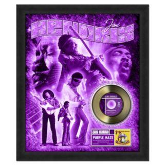 "Jimi Hendrix Purple Haze 20"" x 24"" Framed Gold Record"