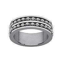 Stainless Steel Spinner Wedding Band - Men