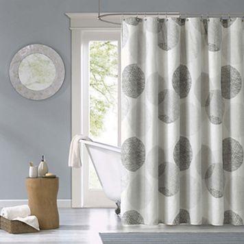 Madison Park Essentials Glendale Fabric Shower Curtain