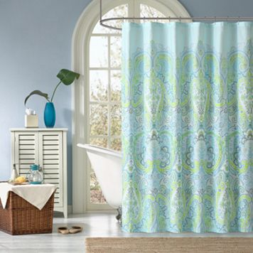 Madison Park Essentials Carly Fabric Shower Curtain