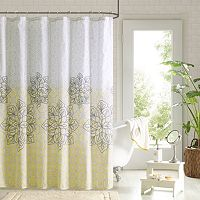 90° by Design Lab Tamara 14 pc Fabric Shower Curtain & Hook Set