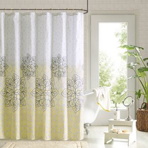 90° by Design Lab Tamara 14-pc. Fabric Shower Curtain & Hook Set