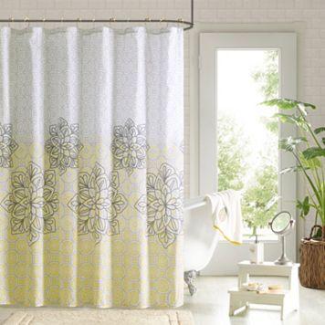 90° by Design Lab Tamara 14-pc. Fabric Shower Curtain & Hook Set