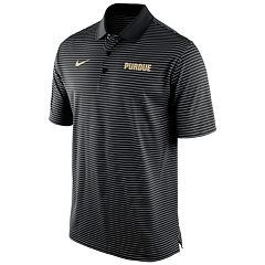 Men's Nike Purdue Boilermakers Striped Stadium Dri-FIT Performance Polo
