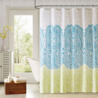 90Degrees by Design Lab Selina 14-pc. Fabric Shower Curtain and Hook Set