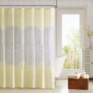 90Degrees by Design Lab Cece 14-pc. Fabric Shower Curtain and Hook Set