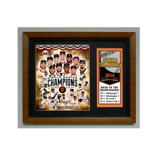 San Francisco Giants 2014 World Series Champions Deluxe Frame